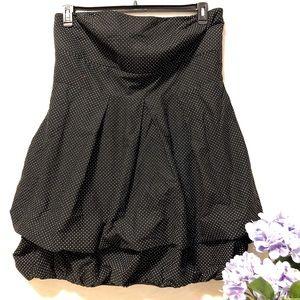 Torrid Strapless Polkadot Bubble Skirt Dress